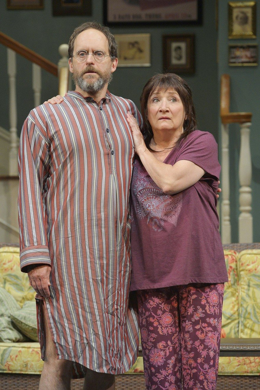 """Anthony Fusco and Sharon Lockwood are superb as brother and sister Vanya and Sonia in Berkeley Repertory Theatre's production of the Tony Award-winning """"Vanya and Sonia and Masha and Spike."""""""