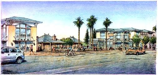 Courtesy renderingThe San Carlos City Council voted last month to revise plans for the contentious Transit Village