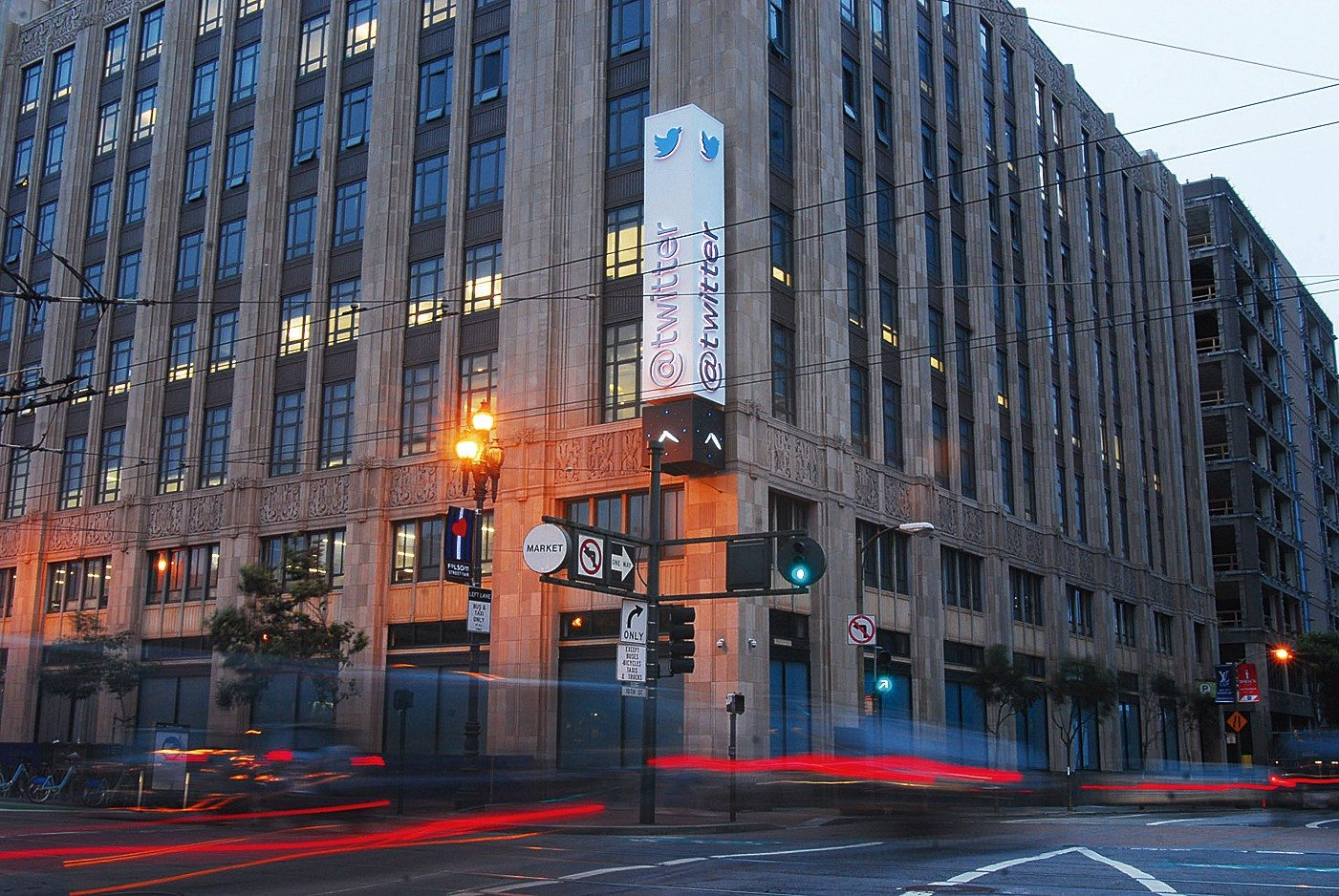 EVAN DUCHARME/S.F. EXAMINER FILE PHOTOPictured: Twitter's Market Street headquarters. Not pictured: a giant pot cloud
