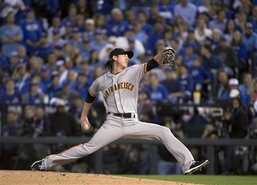 Jose Luis Villegas/Sacramento Bee via APThe Giants' Tim Lincecum looked good in his first postseason appearance this year