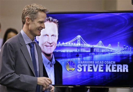Ben Margot/AP file photoNew Warriors coach Steve Kerr spent the summer developing relationships with his new players.