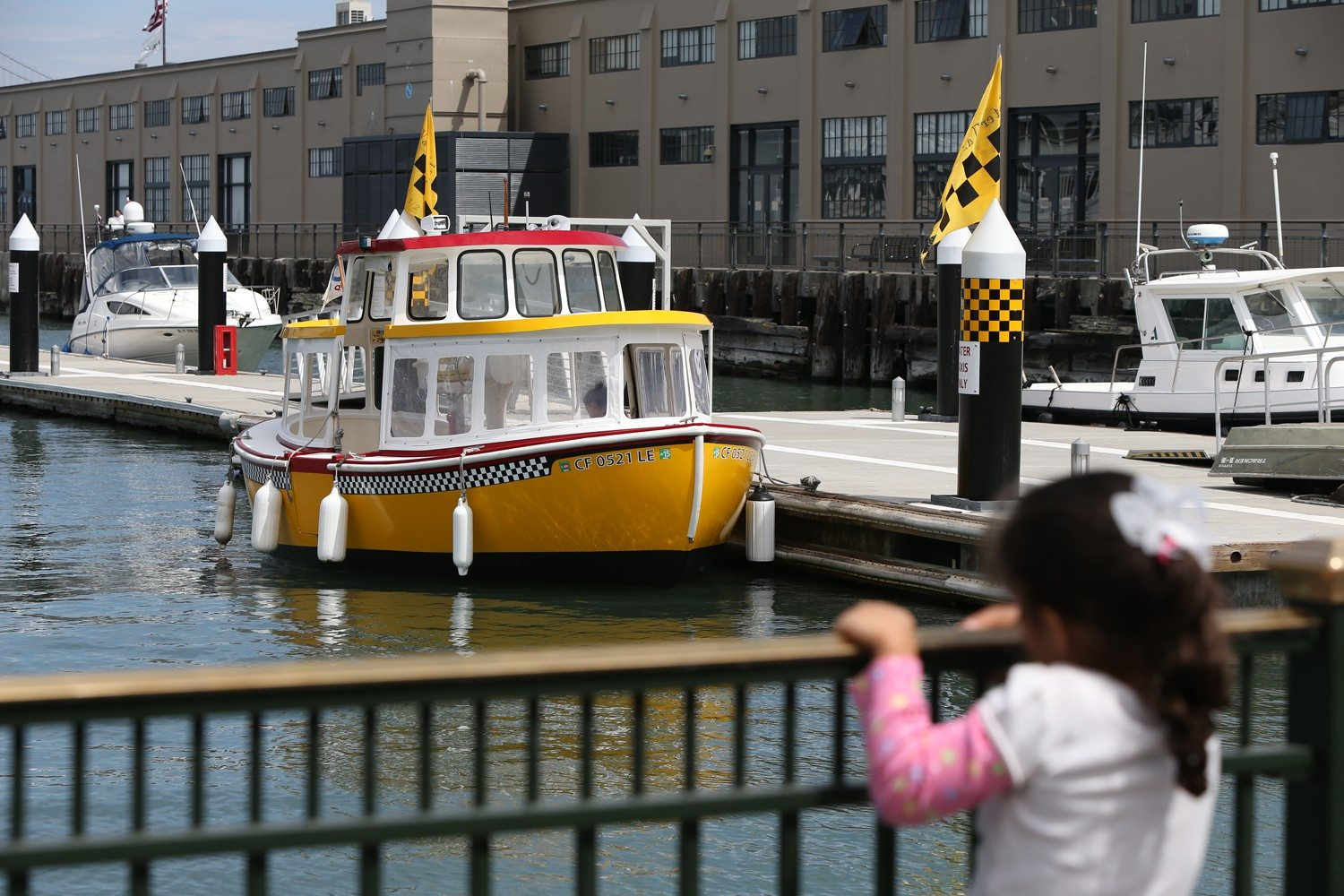 mike koozmin/the s.f. examinerMontgomery George captains the Lil' Taxi water taxi.