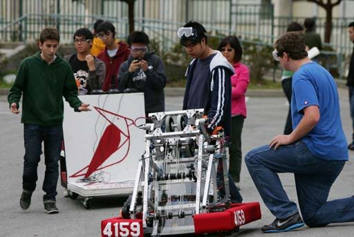 Mike Koozmin/Special to The SF ExaminerLowell High School's robotics team will pit its basketball-playing machine against creations from other schools at the FIRST Robotics competition.