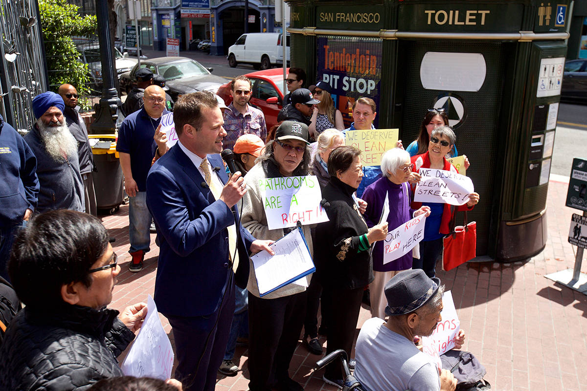 Supervisor Matt Haney vows to have public toilets open 24-hours
