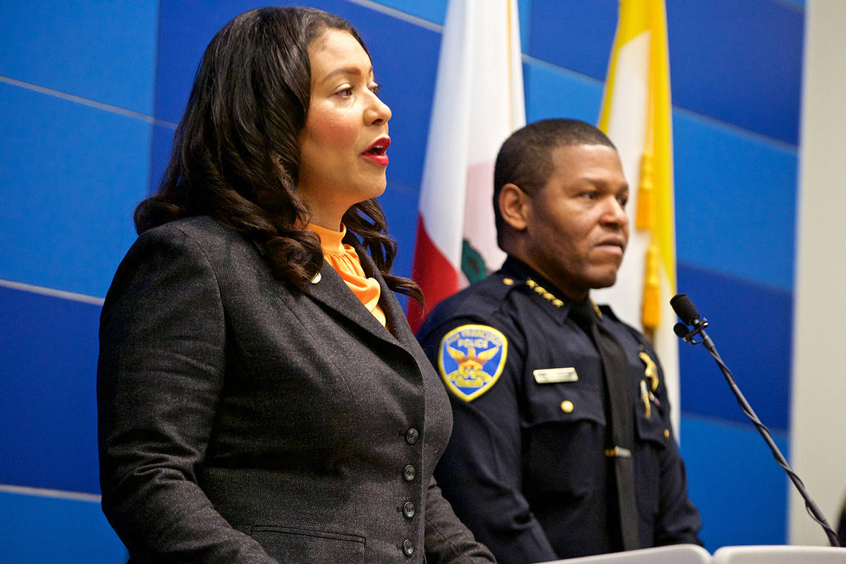 """Mayor London Breed issued a statement Tuesday saying a police raid on a journalist's home """"went through the appropriate legal process."""""""
