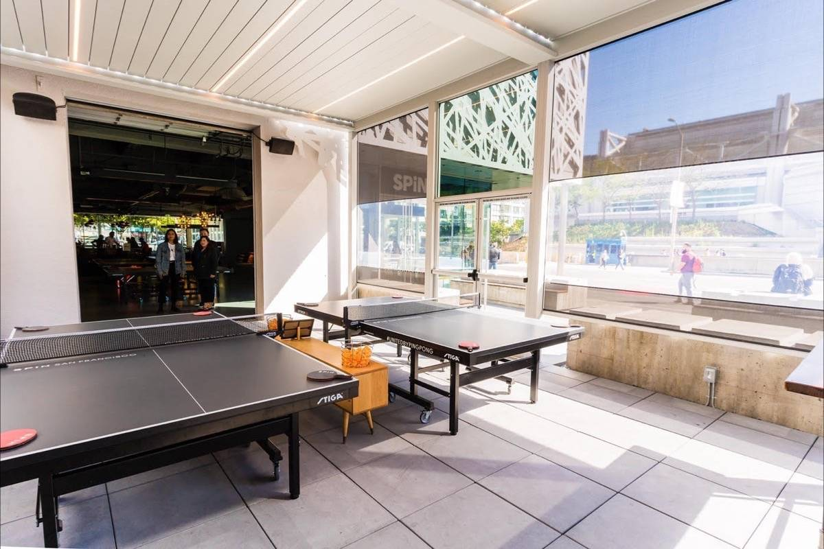 SPiN, the South-of-Market ping pong club, has a spiffy remodeled patio and new menu items on the way. (Courtesy photo)