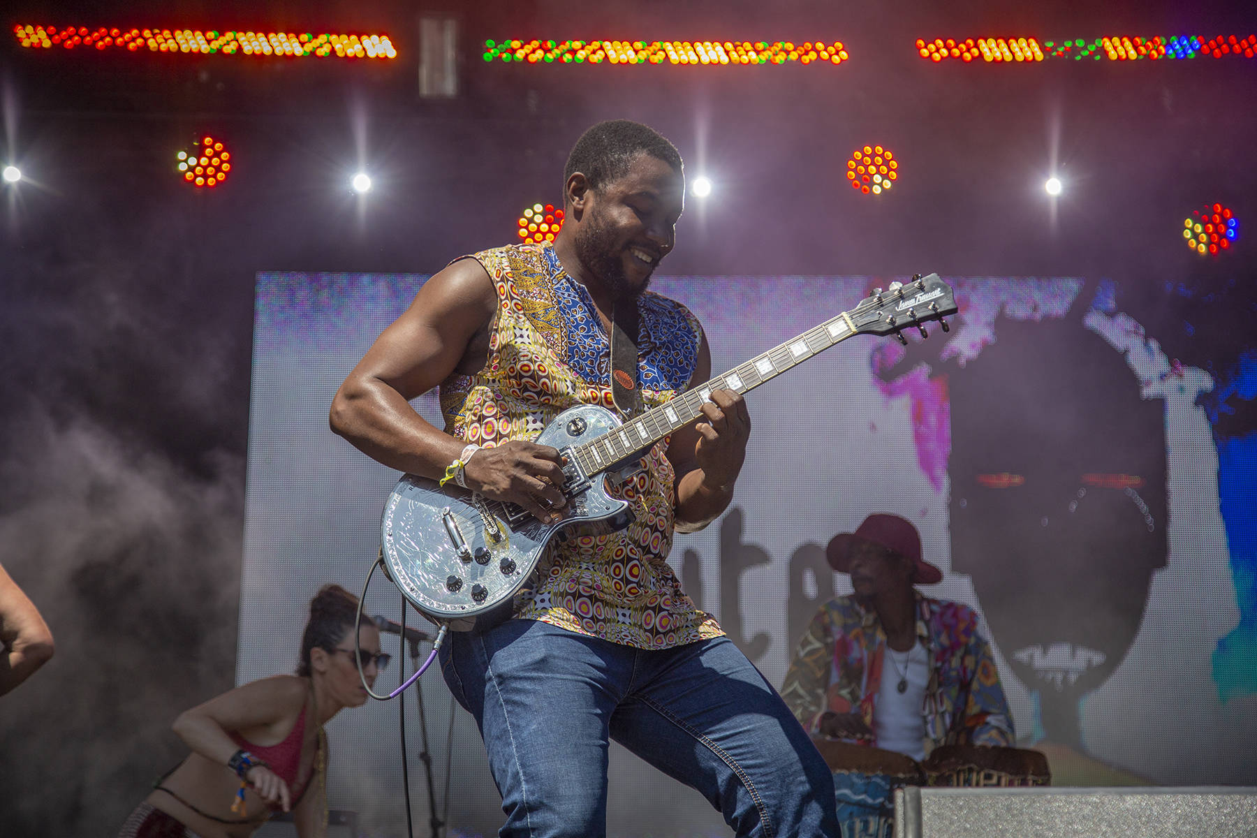 Jupiter and Okwess performs at the final day of Outside Lands on Sunday, August 11, 2019. (Ellie Doyen/Special to S.F. Examiner)