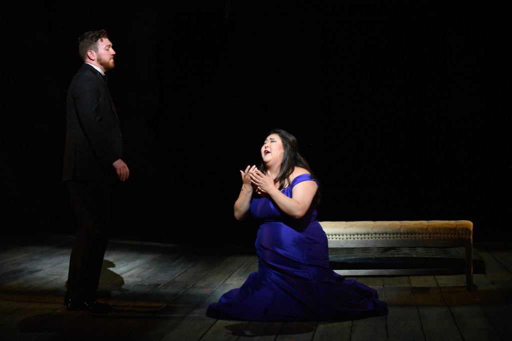 """Timothy Murray and Alice Chung performed a scene from """"Hamlet"""" in the Merola Opera Program's finale on Aug. 17 at the War Memorial Opera House. (Courtesy Kristen Loken)"""