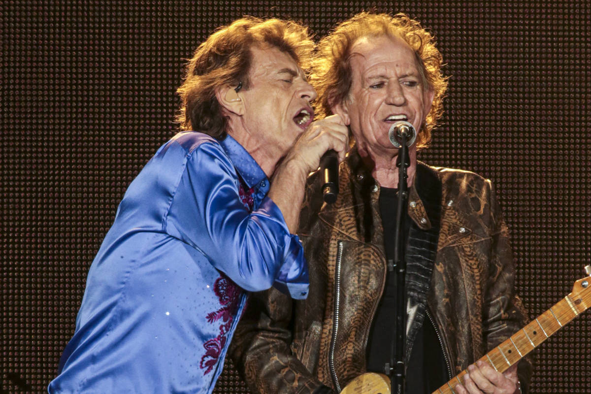 Mick Jagger and Keith Richards of the Rolling Stones perform to a sold-out audience during the 2019 No Filter Tour at Levi's Stadium on August 18, 2019 in Santa Clara, California. (Chris Victorio   Special to S.F. Examiner).