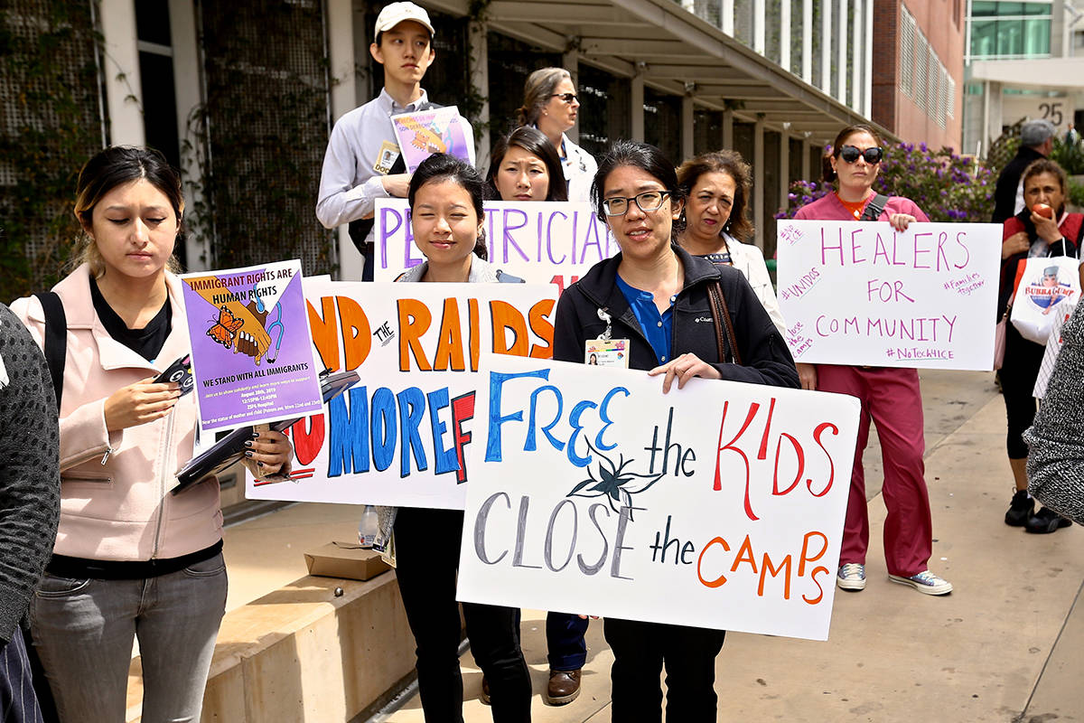 Hospital workers protest ICE