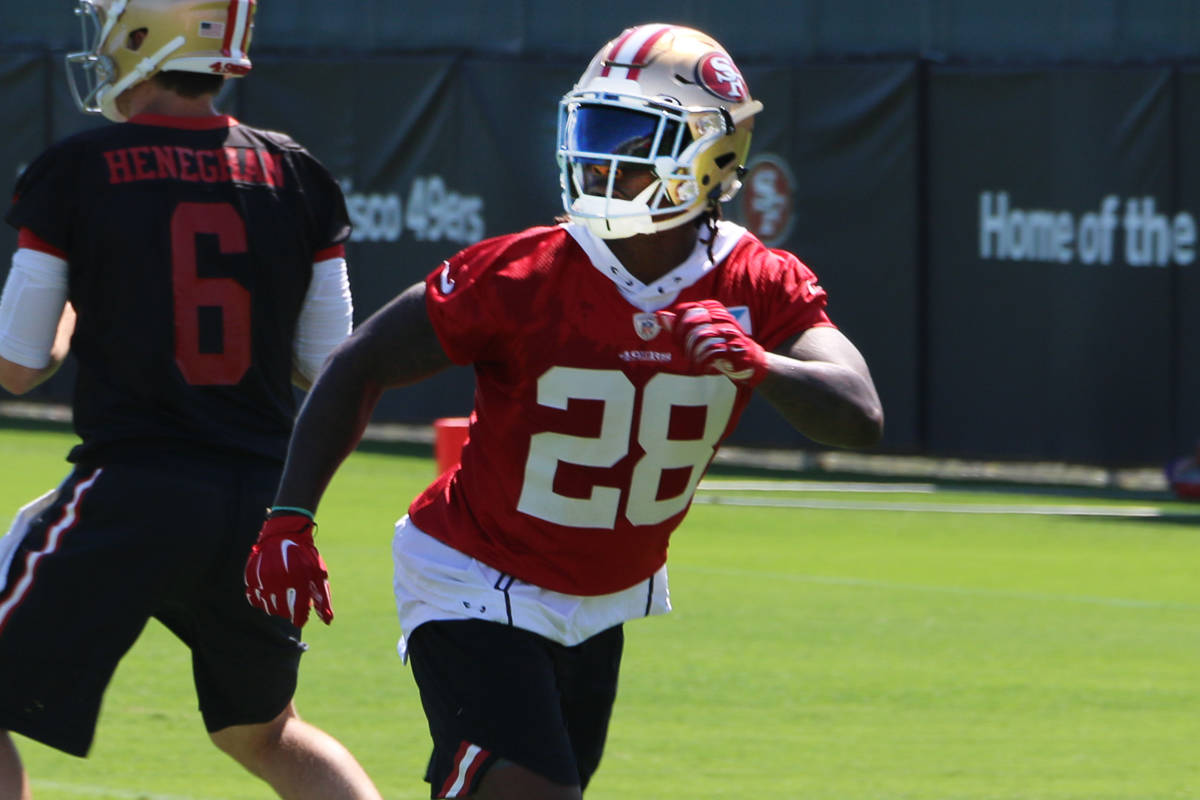 premium selection 6ee6c 048e6 Amid roster cuts, 49ers announce surgery for Jerick McKinnon ...