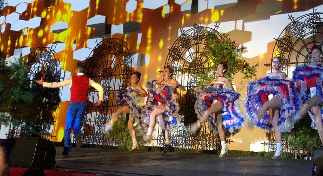 """Dancers perform at the 2019 DAOU Annual Gala themed """"Moulin Rouge."""" (Julie L. Kessler/Special to S.F. Examiner)"""