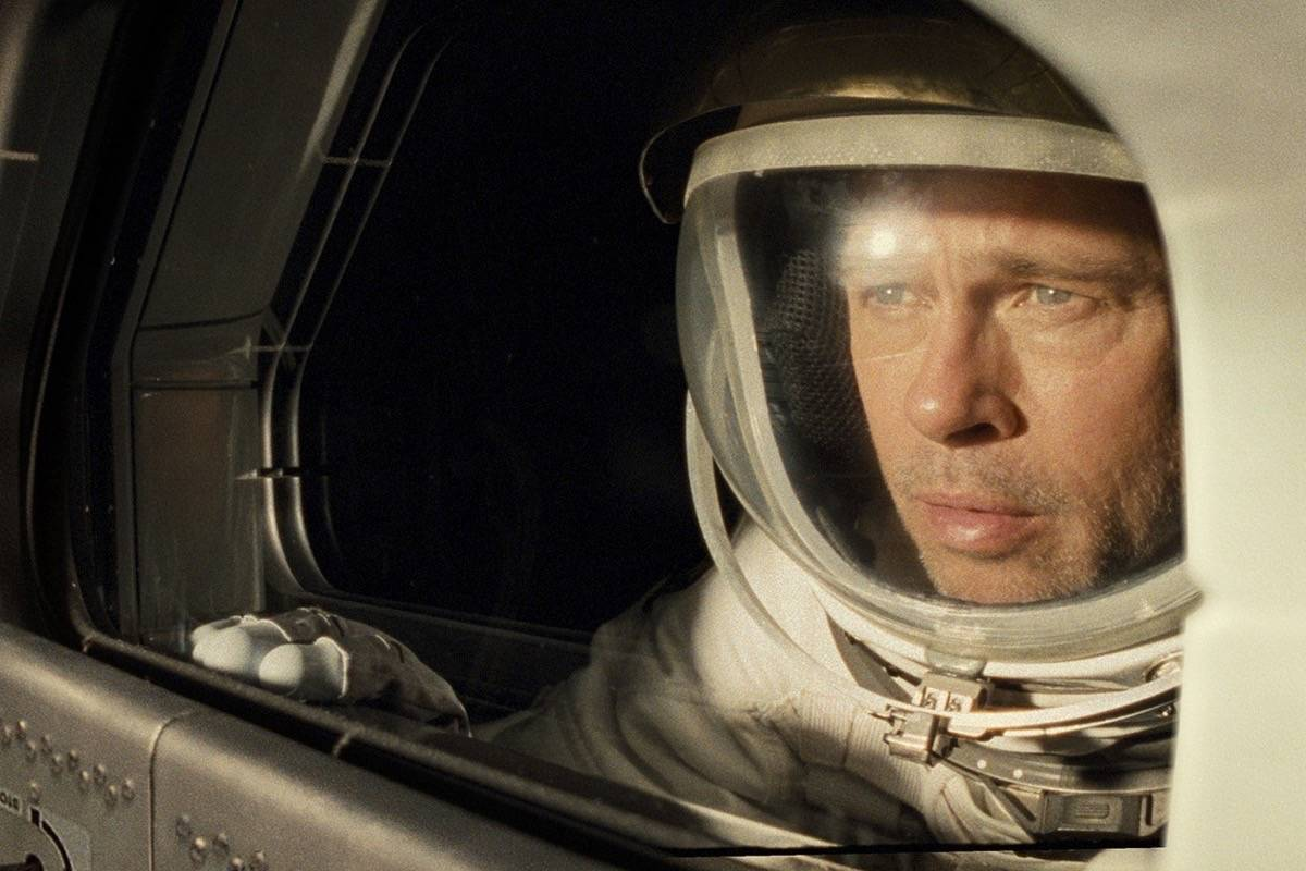 "Brad Pitt fills the screen in ""Ad Astra."" (Courtesy Francois Duhamel/Twentieth Century Fox)"