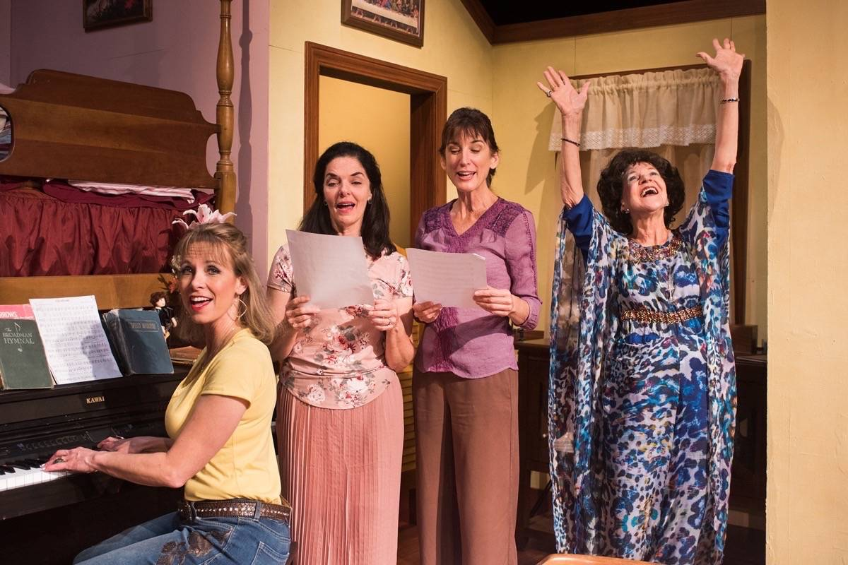 "From left, Amy Meyers, Cheryl Smith, Alison Whismore and Christine Macomber appear in ""This Side of Crazy"" at New Conservatory Theatre Center. (Courtesy Lois Tema)"
