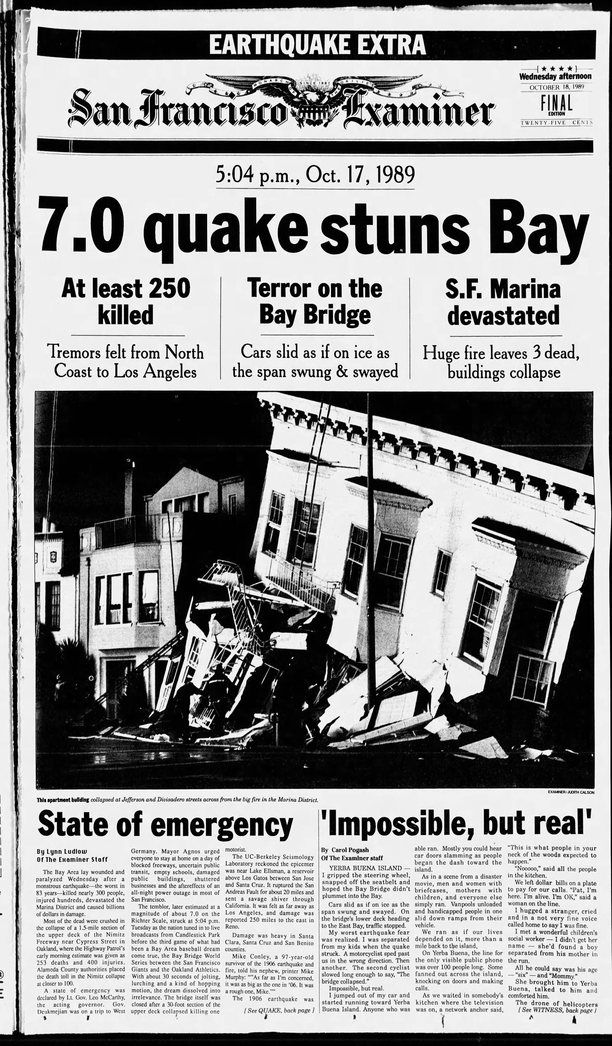 Thirty years after Loma Prieta, is San Francisco ready for the next 'big one?'