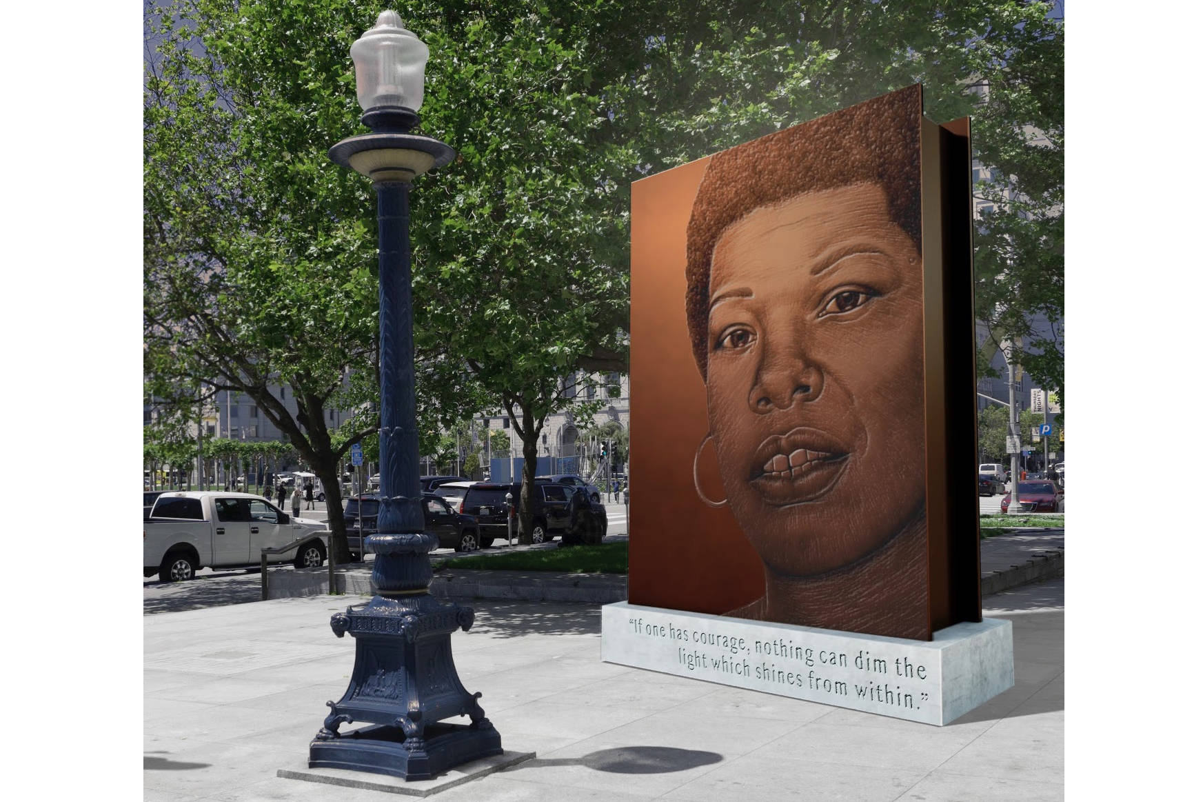 """The proposal for """"Portrait of a Phenomenal Woman"""" by Berkeley-based artist Lava Thomas was scored the highest by the panel asked to judge potential sculptures honoring Maya Angelou.                                 Courtesy image"""