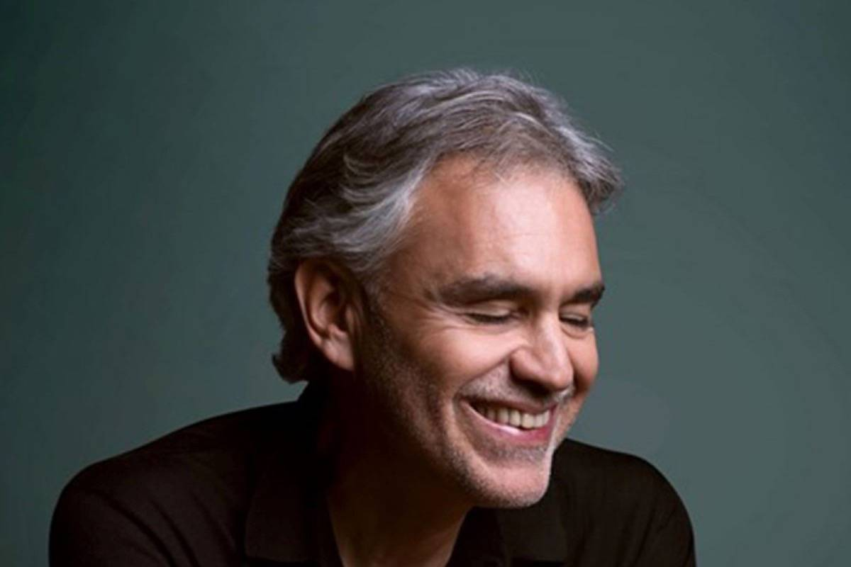 Tenor Andrea Bocelli appears, accompanied by the San Francisco Symphony and Chorus, at Chase Center on Dec. 5. (Courtesy Decca)