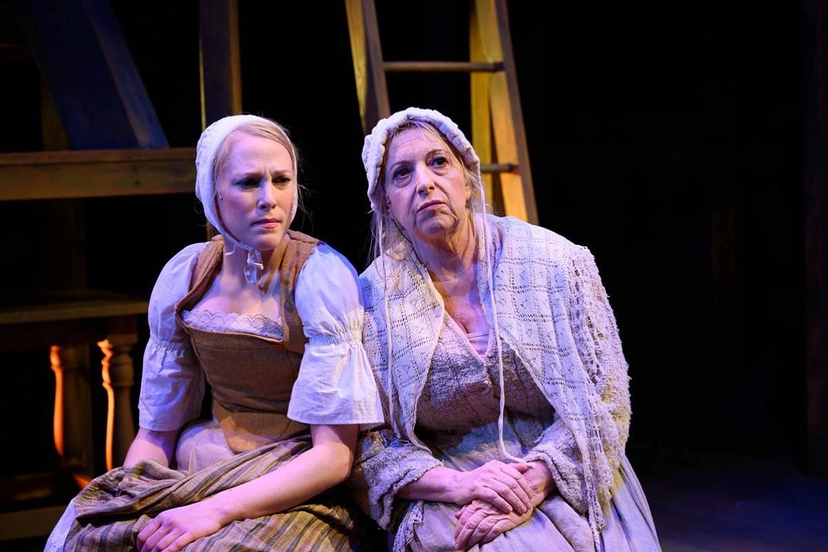 "Megan Trout, left, and Celia Maurice appear in Shotgun Players' production of ""Vinegar Tom."""