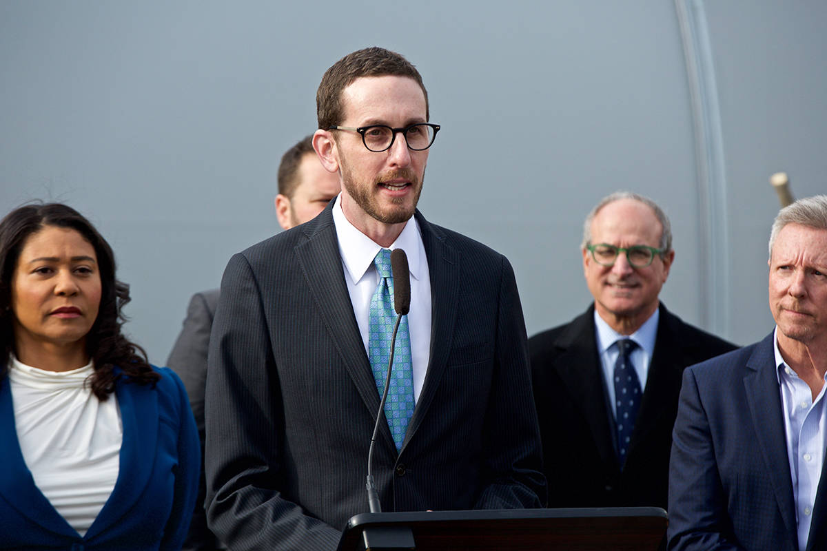 State Sen. Scott Wiener said Tuesday that opponents of his housing density legislation on the Board of Supervisors should focus on getting more housing into their own districts. (Kevin N. Hume/S.F. Examiner)