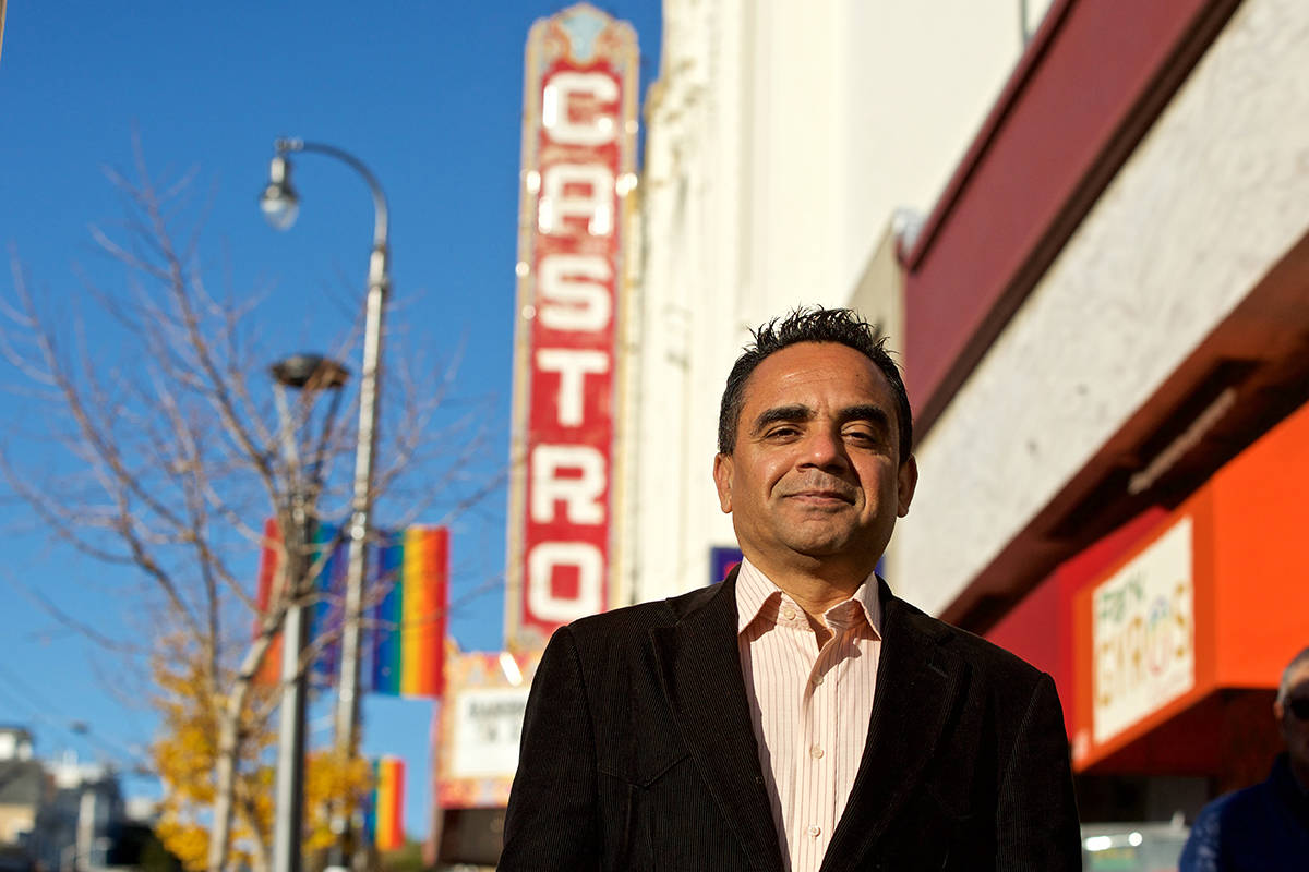 Becoming a filmmaker was a long journey for Dr. Hassan Zee, pictured here outside the Castro Theatre on, Dec. 30. (Kevin N. Hume/S.F. Examiner)