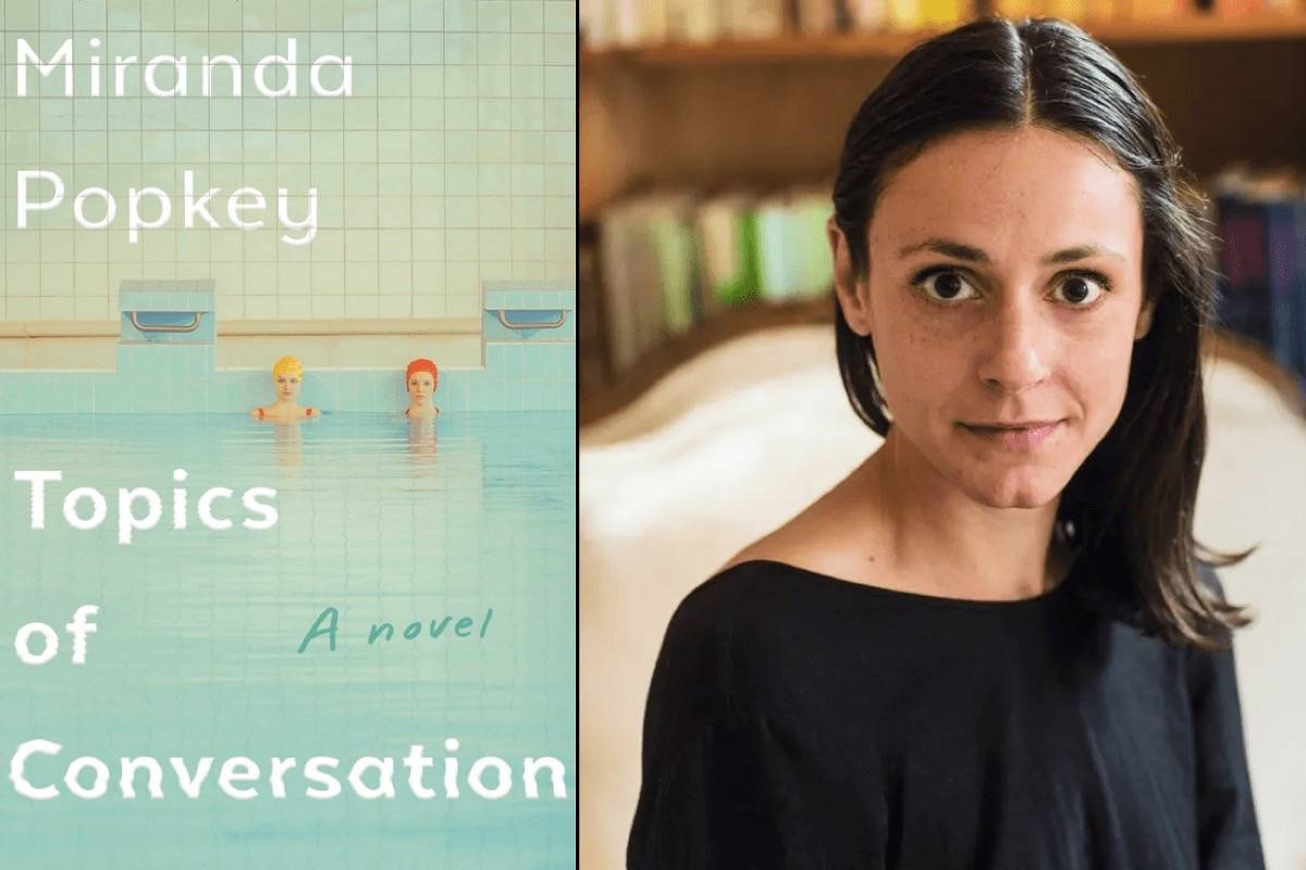 "Miranda Popkey discusses her acclaimed debut novel ""Topics of Conversation"" — partly set in San Francisco, in which an unnamed narrator navigates identity through conversations spanning decades — with Rachel Khong at Green Apple Books on Jan. 15. (Courtesy photo)"