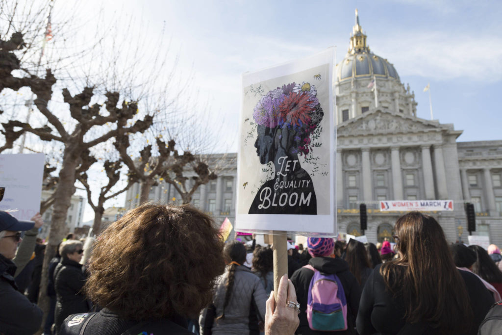 No-shows at the Women's March in San Francisco on Jan. 18 missed the chance to feel uplifted and optimistic.                                 Amanda Peterson/Special to S.F. Examiner