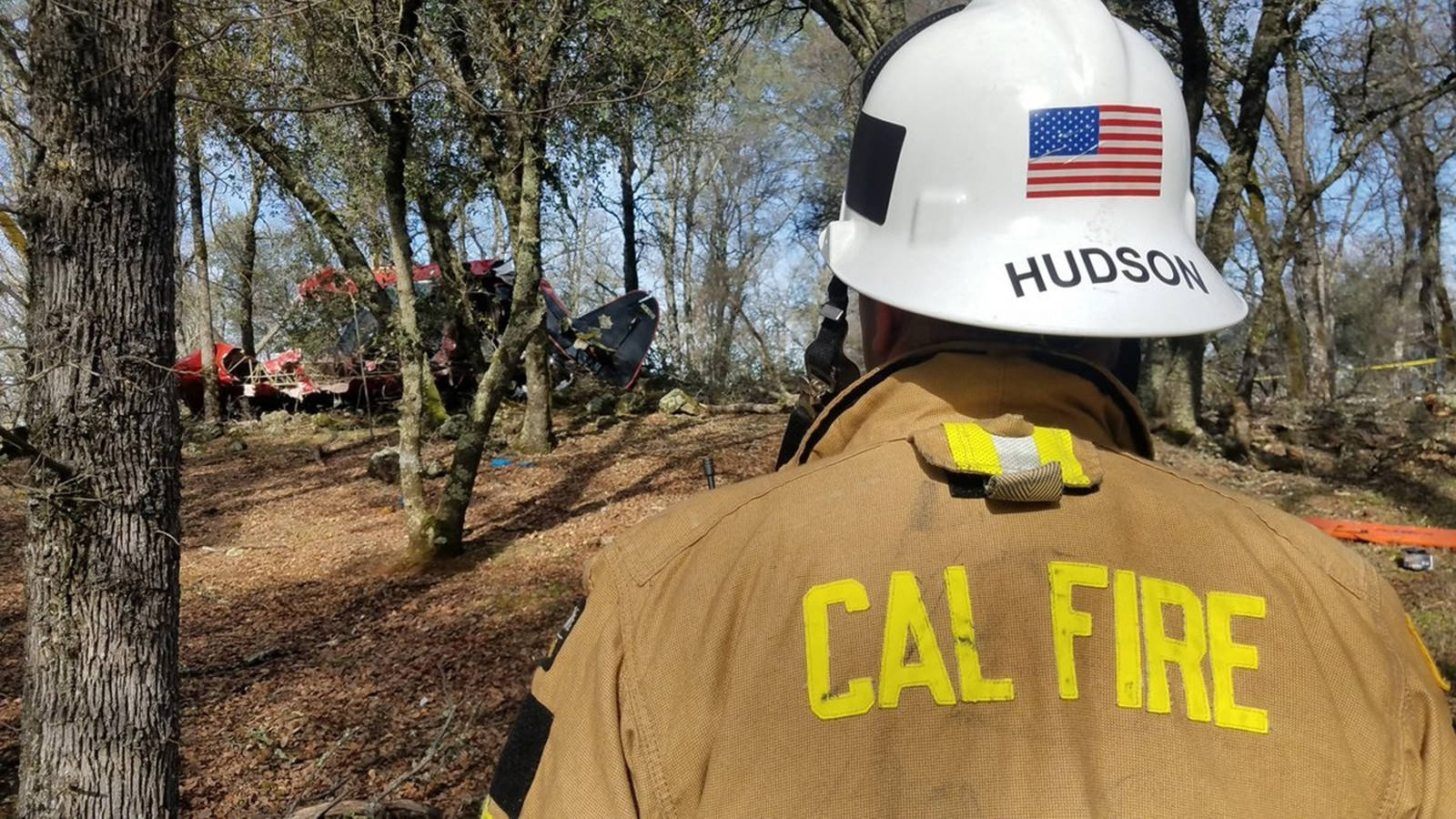 A small plane crashed near the Auburn Municipal Airport in Northern California on Friday morning, killing two people and injuring another. (California Department of Forestry and Fire Protection/TNS)