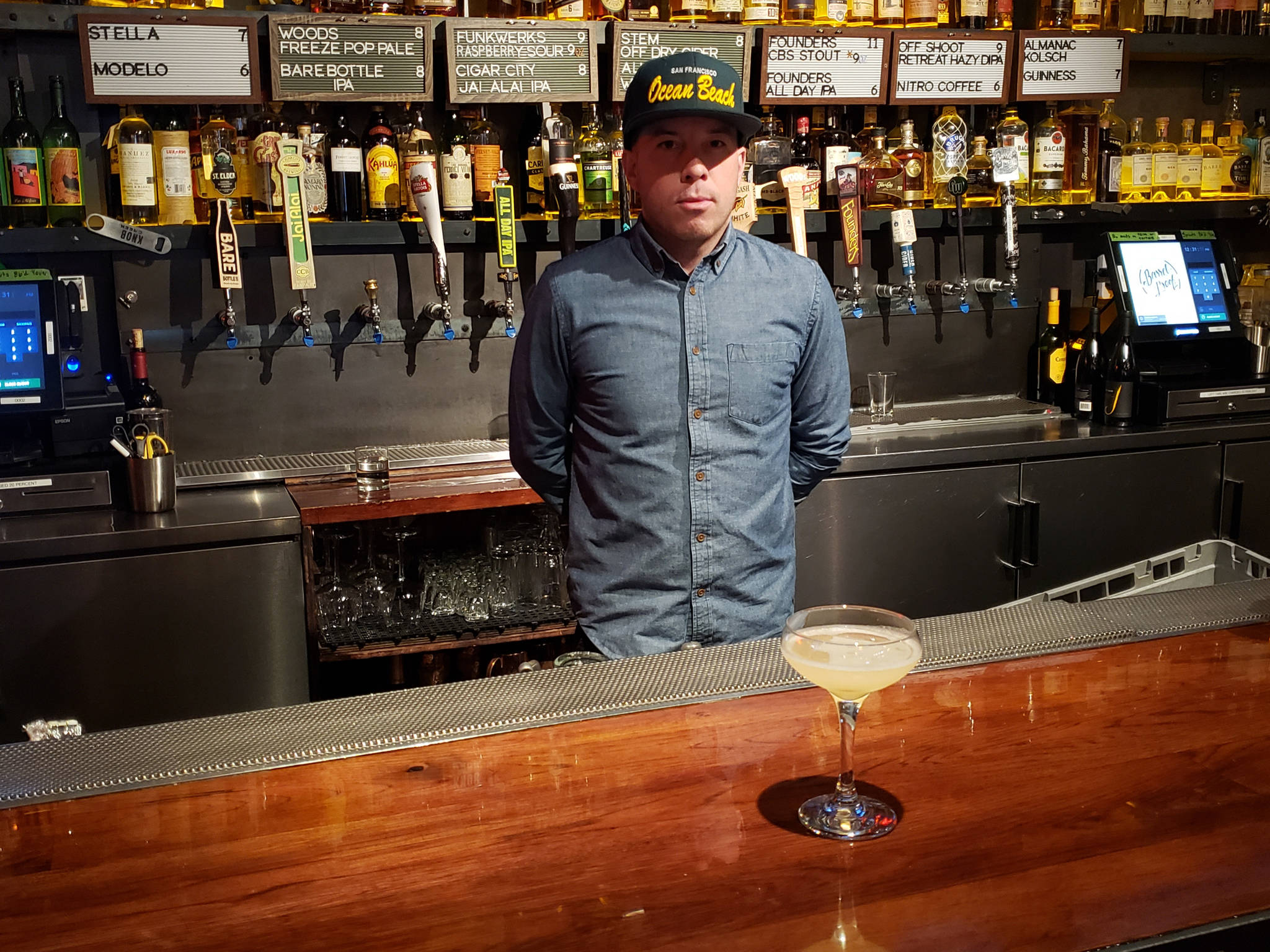 Peter Ziegler, manager of the Barrel Proof Bar & Restaurant on Mission Street, said early experiences put off many people from drinking certain liquors later in life. (Saul Sugarman/Special to S.F. Examiner)