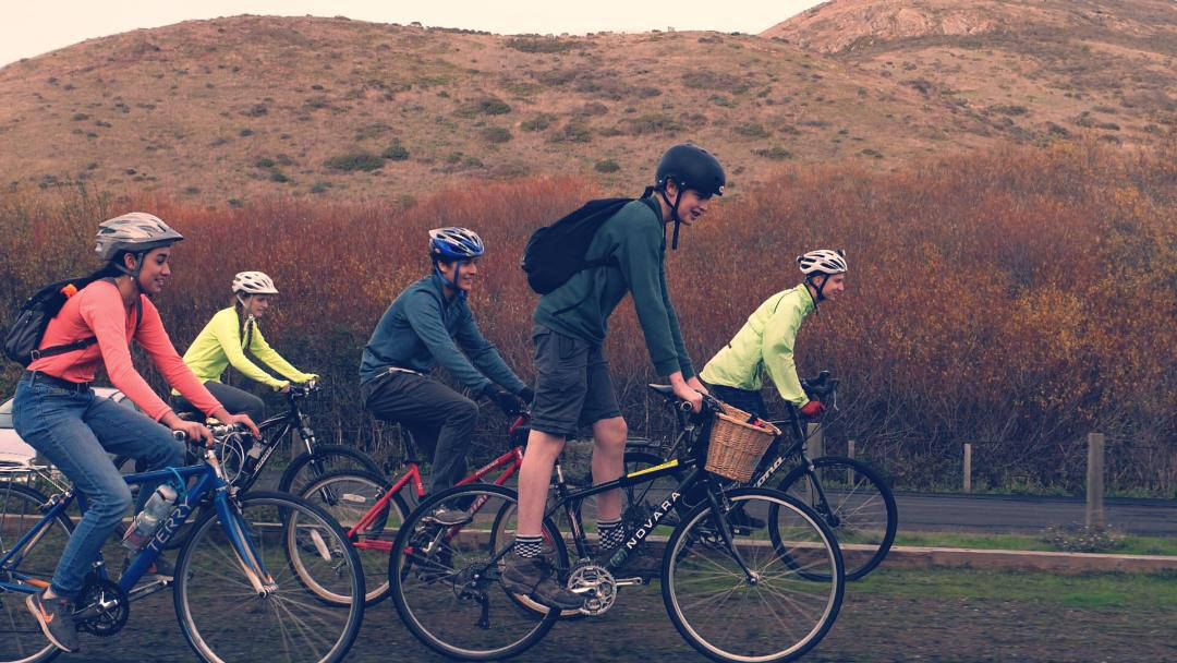 """Teenage cyclists prepare for a cross country ride which they call """"Pedal Towards The Future."""" (Courtesy photo)"""