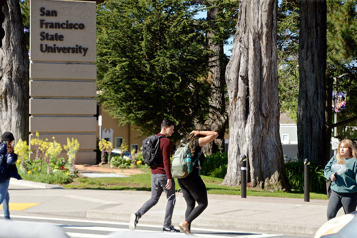 San Francisco State University has moved classes online through April 6 to reduce the transmission of coronavirus.                                 Kevin N. Hume/ S.F. Examiner