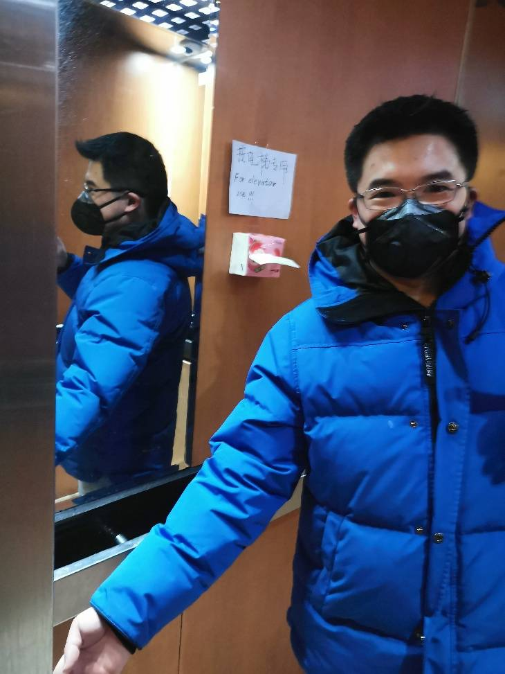 San Francisco resident Jeffrey Fang, shown here in Beijing, said residents in China took more precautions, including wearing masks in public and looking out for neighbors. (Photo courtesy Jeffrey Fang)