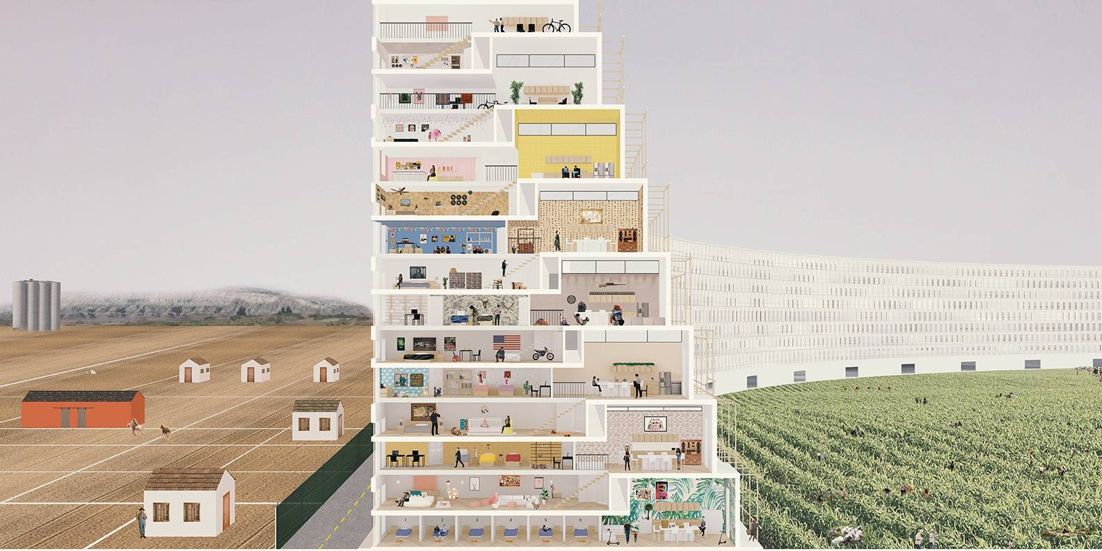 """The Territorial City"" by Hannah Kim & Sayer Al Sayer is among the Curator's Picks from the California College of the Arts Class of 2020 Showcase. (Courtesy CCA)"