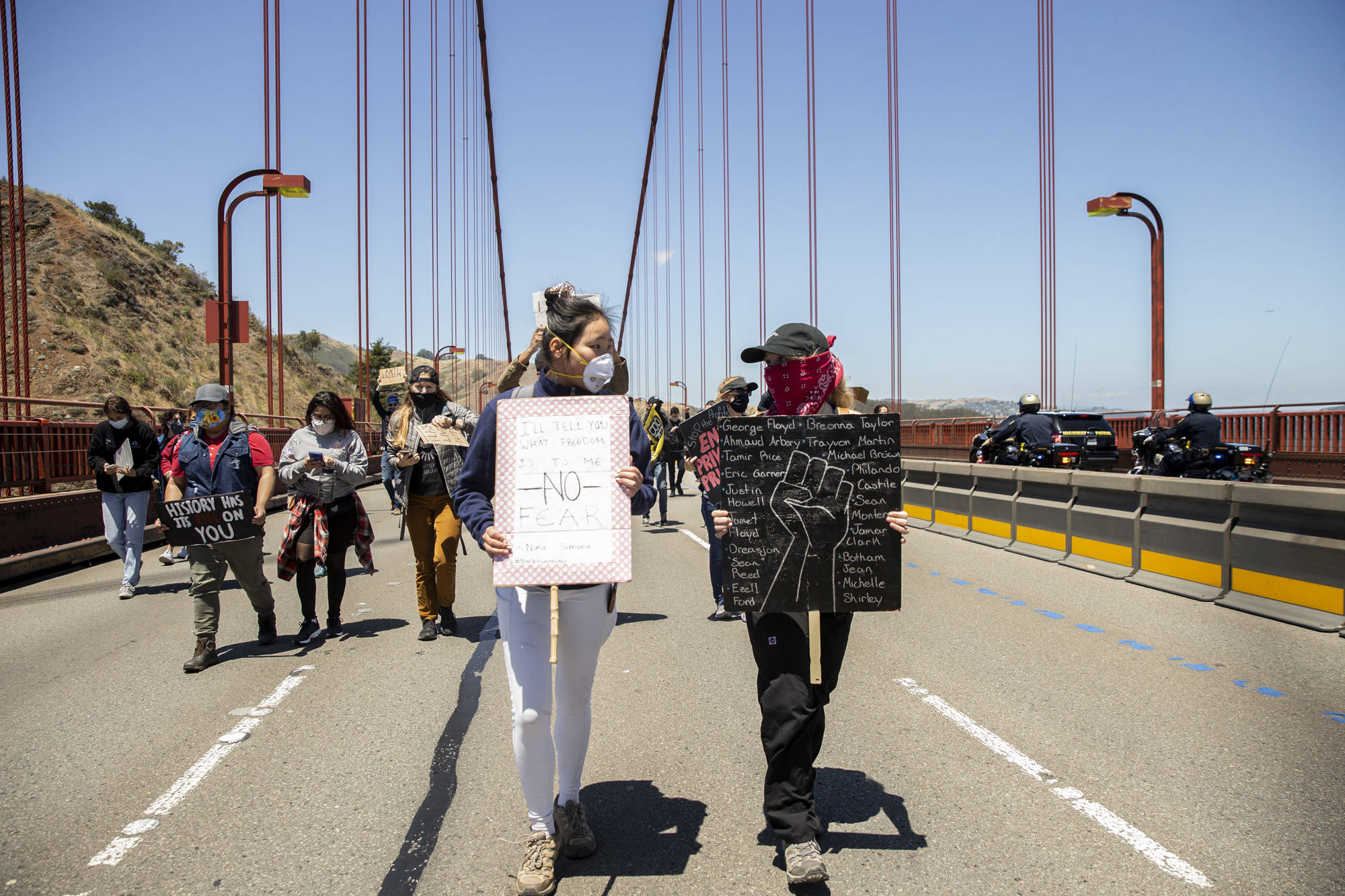 SF protests continue with Golden Gate Bridge takeover, Mission march and more