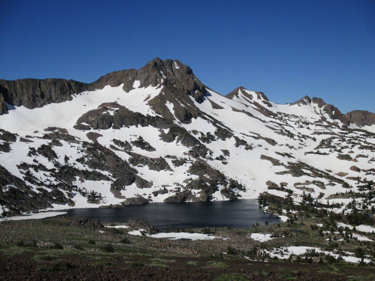Round Top stands above Winnemucca Lake near Carson Pass on Highway 4. (Matt Johanson/Special to S.F. Examiner)