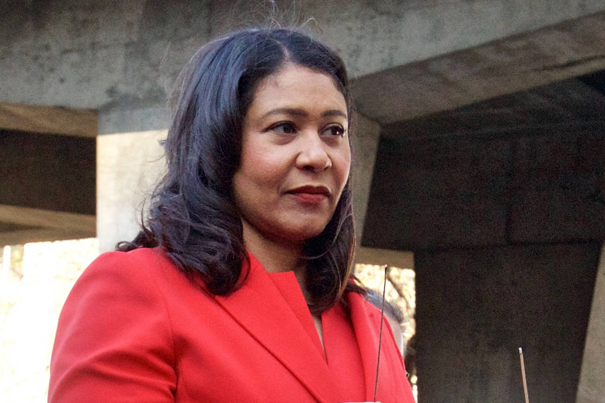 Mayor London Breed on Friday announced that the planned reopening of some businesses would be postponed due to climbing coronavirus cases. (Kevin N. Hume/S.F. Examiner)