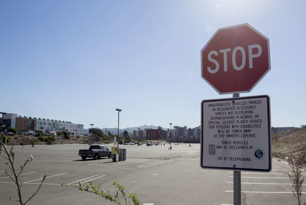 The Balboa Reservoir site has been used as parking for the City College of San Francisco community for years. (Daniel Kim/Special to S.F. Examiner)