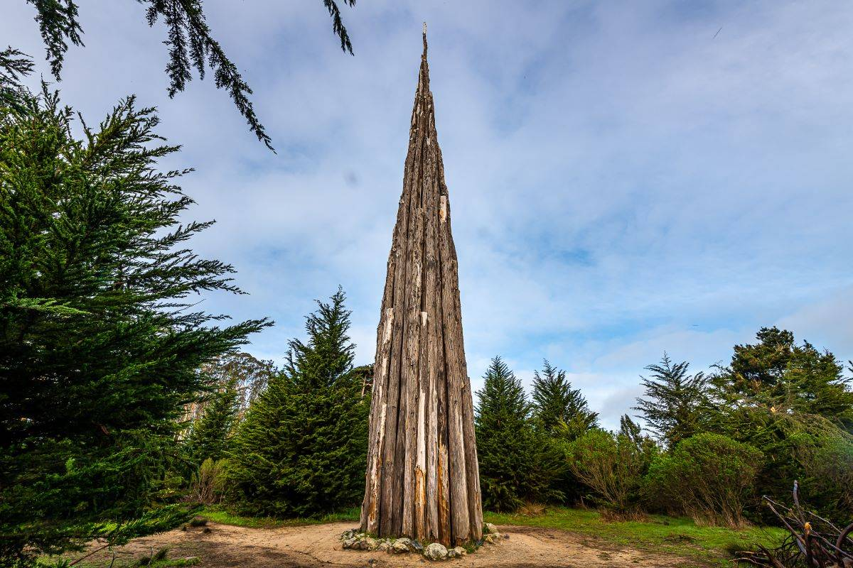"Andy Goldsworthy's sculpture ""Spire"" in the Presidio is among the treasures in San Francisco parks, which benefit from private funding in addition to tax dollars. (Courtesy photo)"