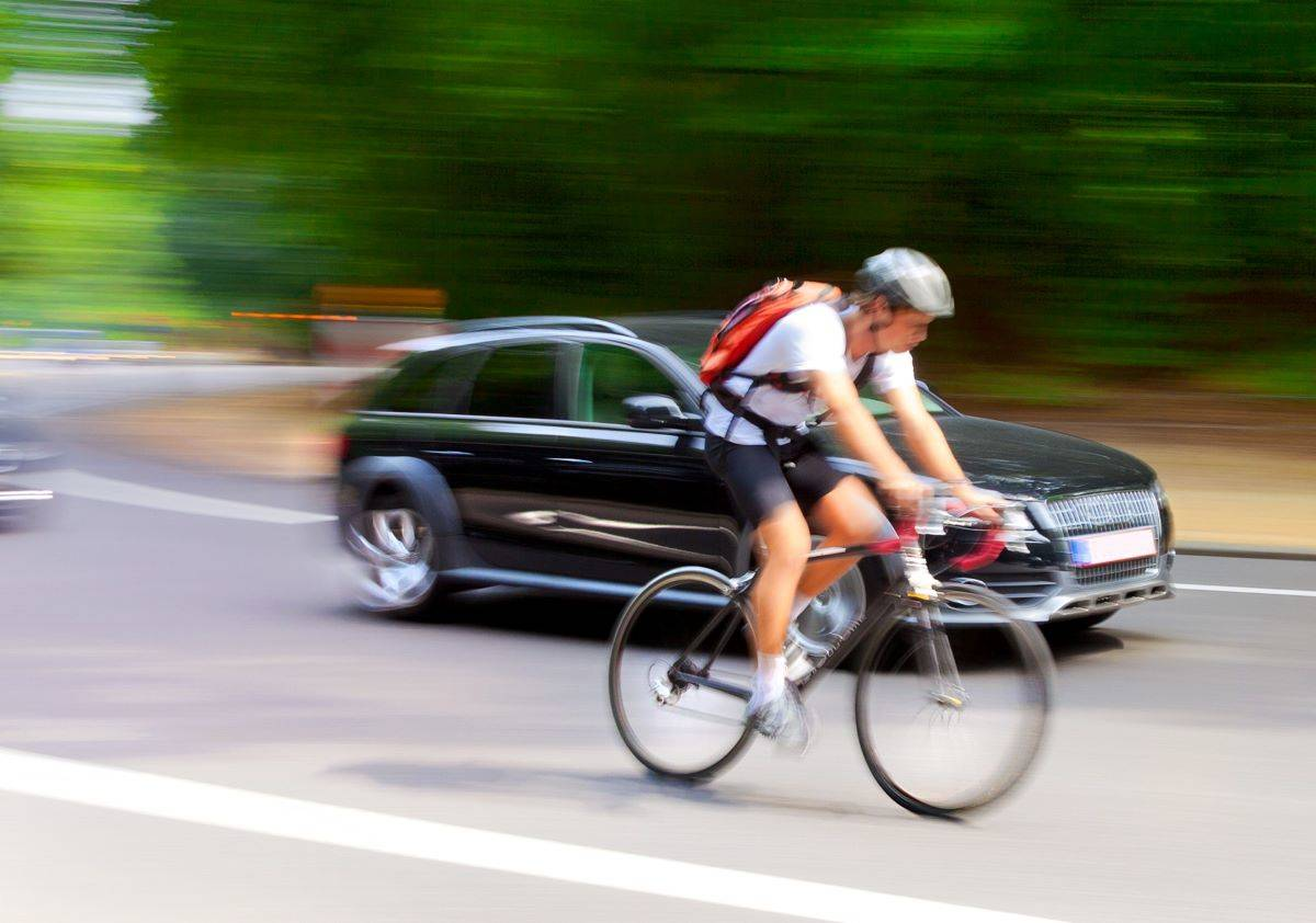 California law states that drivers must stay at least three feet away from bicyclists traveling in same direction. (Courtesy photo)