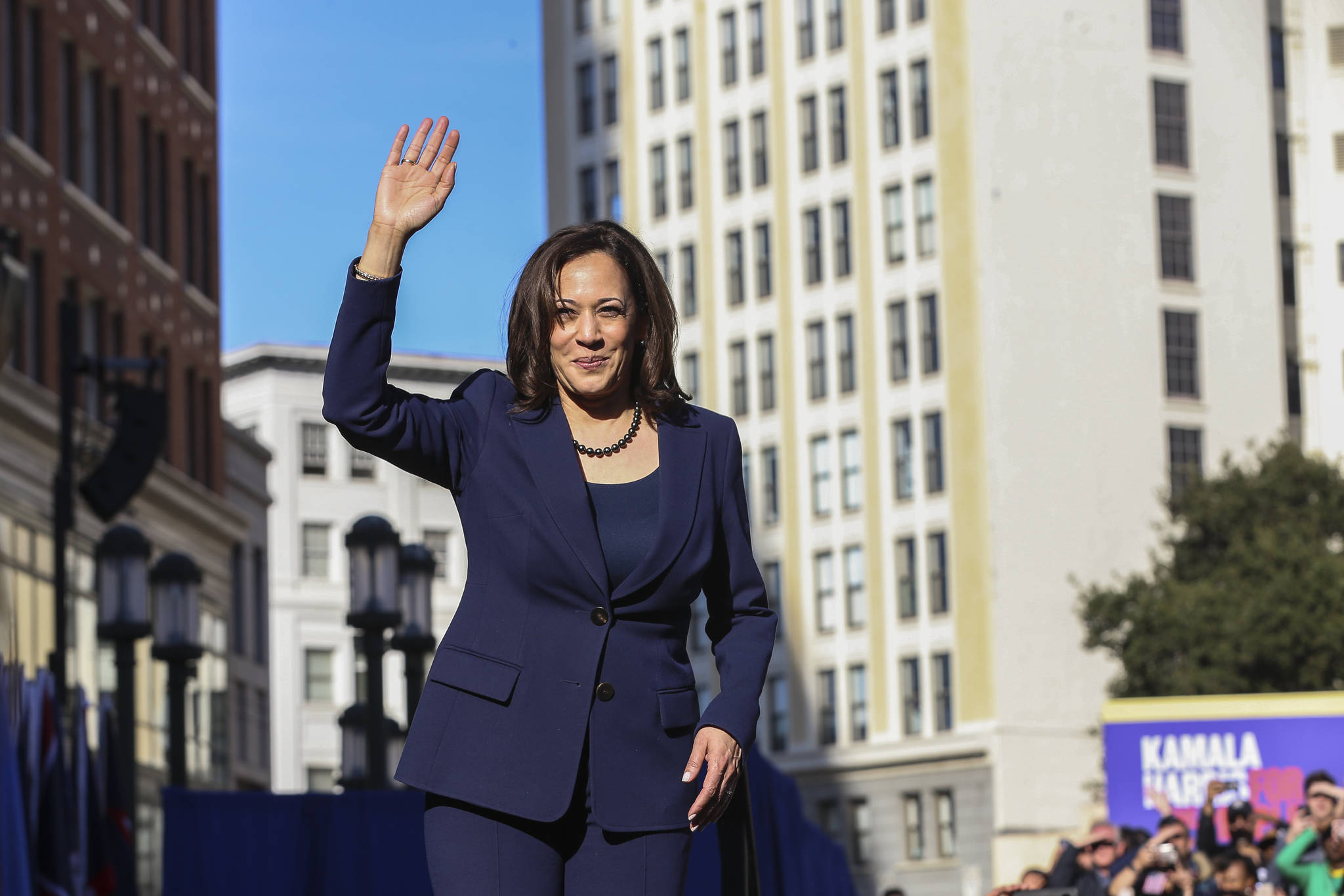U.S. Senator Kamala Harris speaks at her official launch rally for her campaign for President of the United States in 2020 on January 27, 2019 in Oakland. Harris was chosen as a running mate by former Vice President Joe Biden on Tuesday in his presidential run. (Photography by Christopher Victorio for SF Weekly)