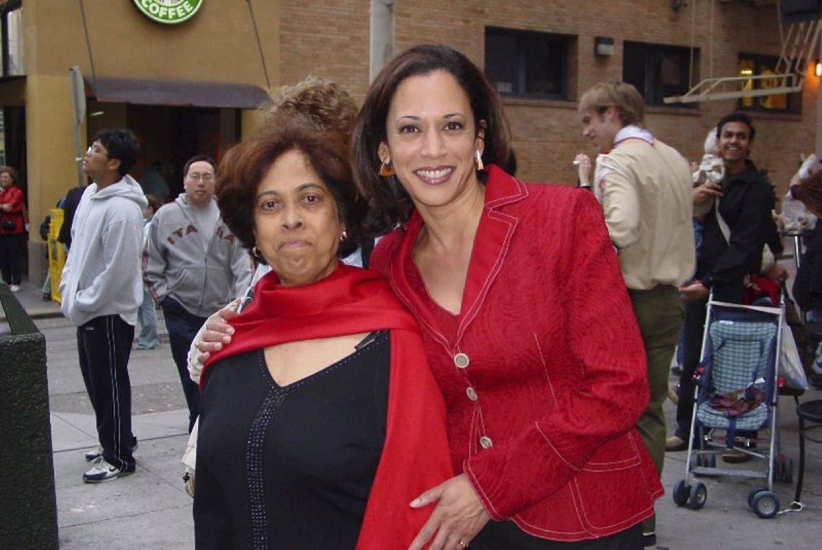 Shyamala Gopalan Harris, left, pictured with her daughter in 2007 in Kamala Harris' memoir, set an example and paved the way for her child's future in public service and as a proud woman of color. (Courtesy Kamala Harris)