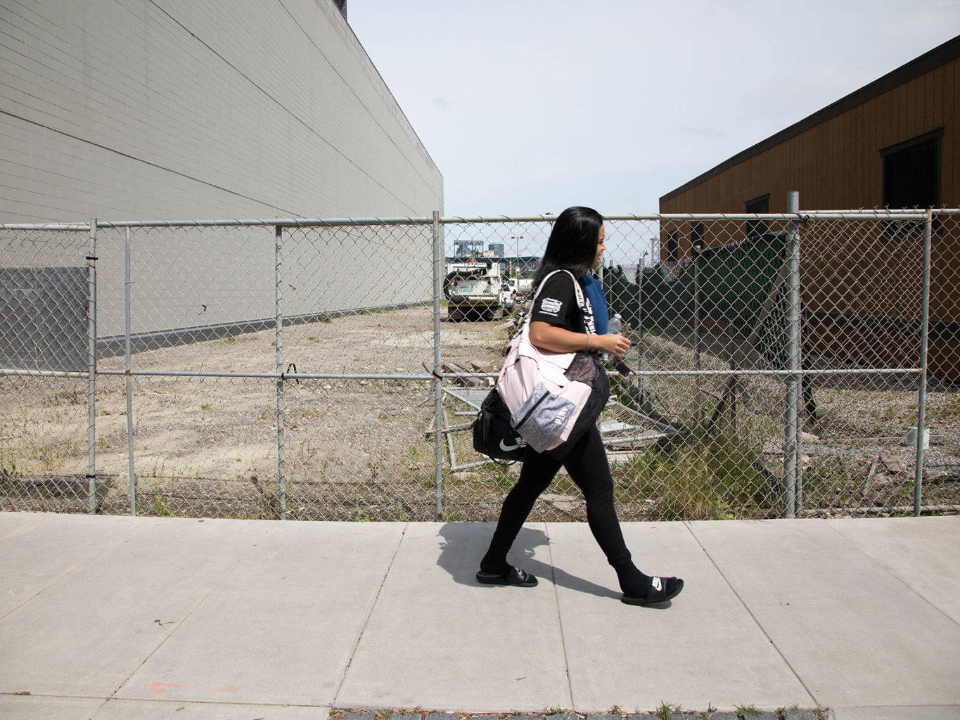 A supportive housing project is planned at this site in Mission Bay next to Police Headquarters. (Steven Ho/2017 Special to S.F. Examiner)