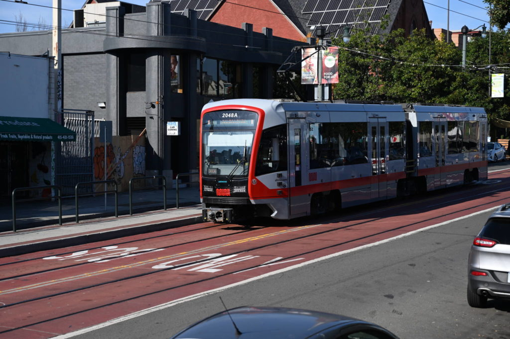 The J Church line is running again on surface streests between Church and Duboce streets and Balboa Park Station. (Samantha Laurey/ Special to S.F. Examiner)