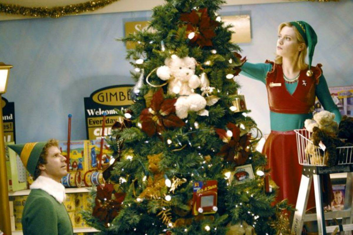 """Will Ferrell and Zooey Deschanel are great in the adorable """"Elf."""" (Courtesy Warner Bros.)"""