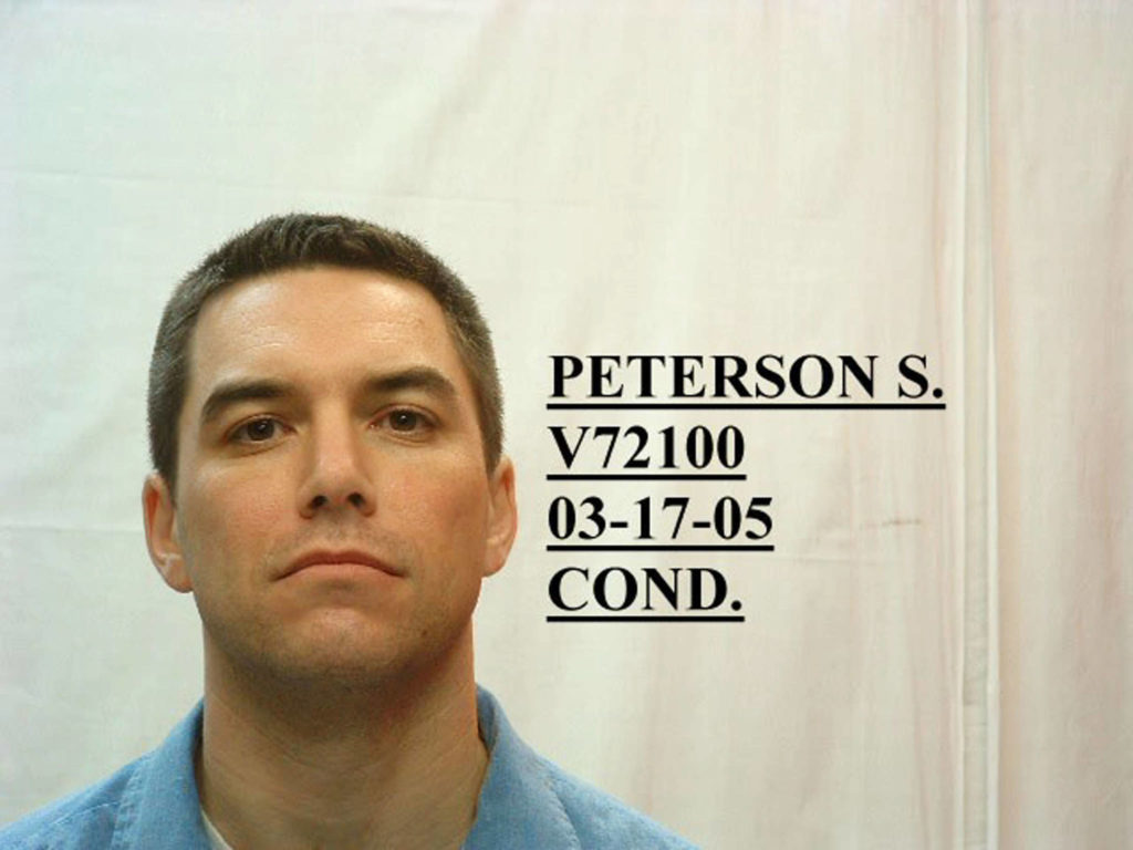 In this handout image provided by the California Department of Corrections, convicted murderer Scott Peterson poses for a mug shot March 17, 2005 in San Quentin, California. (California Department of Corrections via Getty Images/TNS)