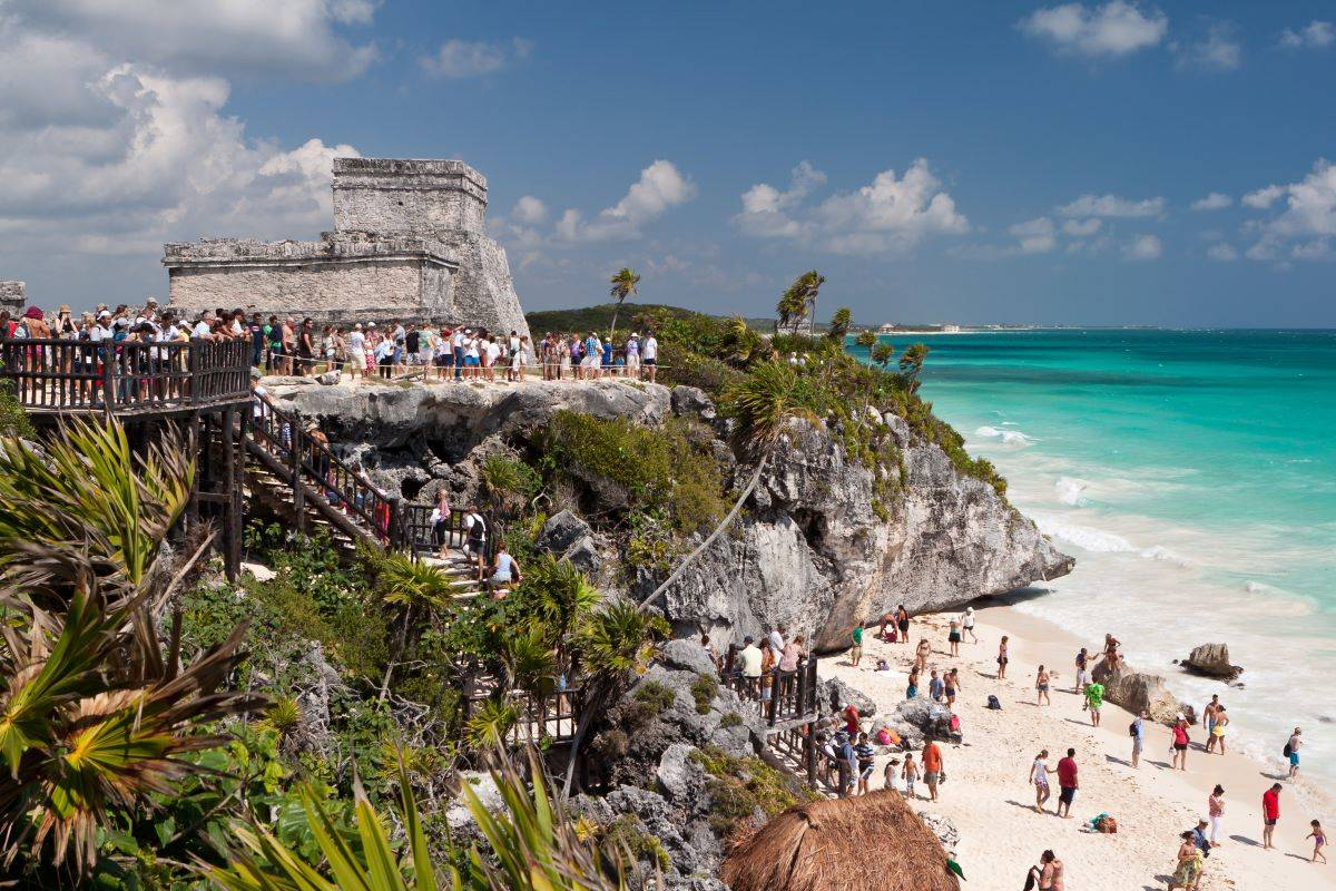 Reports say that the number of American visitors to Mexico's Quintana Roo, where Tulum and Cancun are located, increased by 23 percent between 2019 and 2020. (Shutterstock)