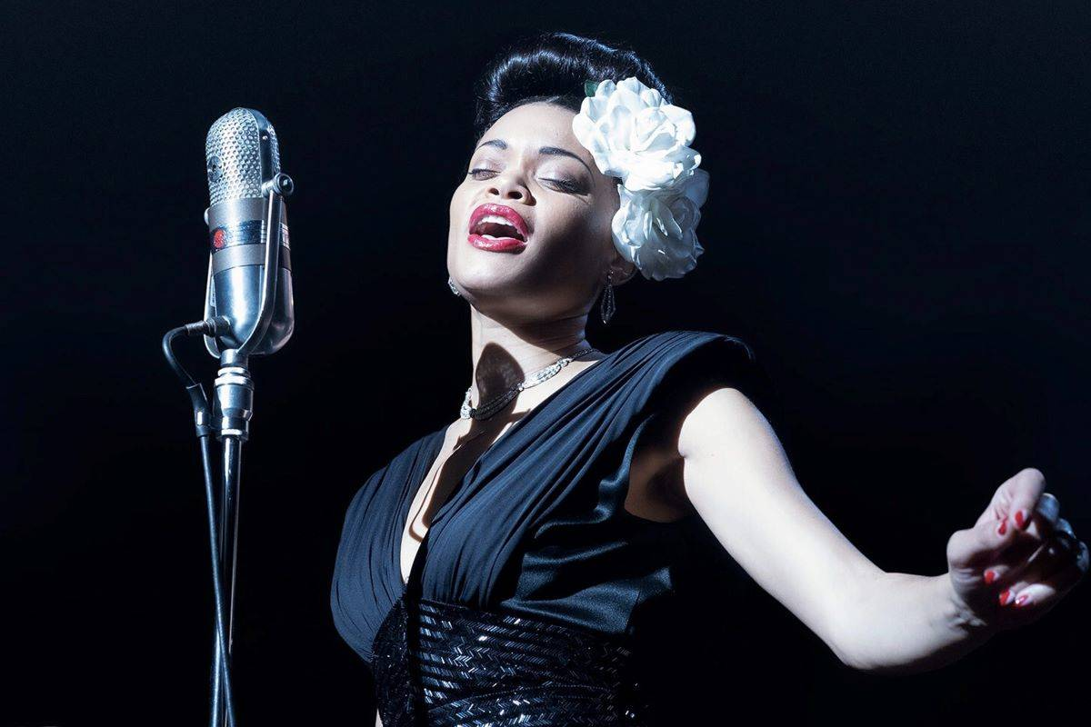 "Andra Day is excellent as the famed singer in ""The United States vs. Billie Holiday."" (Courtesy Hulu)"