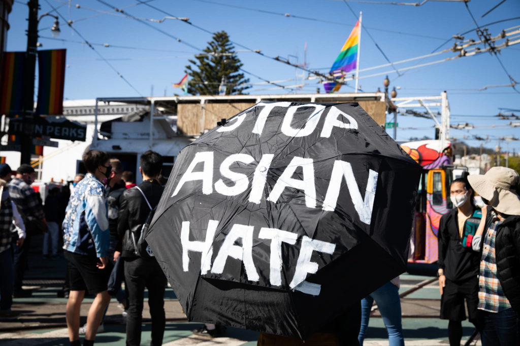 Demonstrators have rallied In light of recent increased reports of anti-Asian hate crimes in the Bay Area. (Ekevara Kitpowsong/S.F. Examiner file photo)