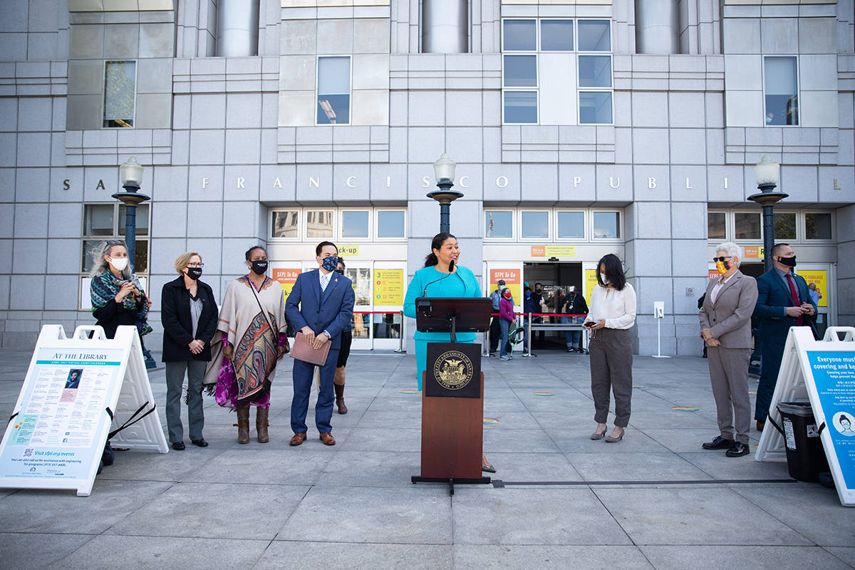 Mayor London Breed announced the reopening of the Main Public Library  on Tuesday.