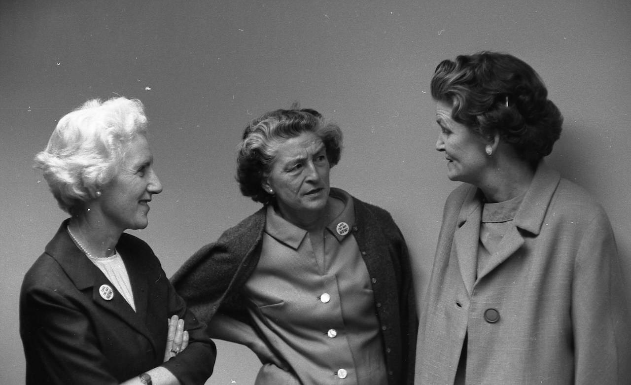 From left, Esther Gulick, Sylvia McLaughlin and Kay Kerr started one of the country's first environmental movements. (Courtesy Save The Bay)