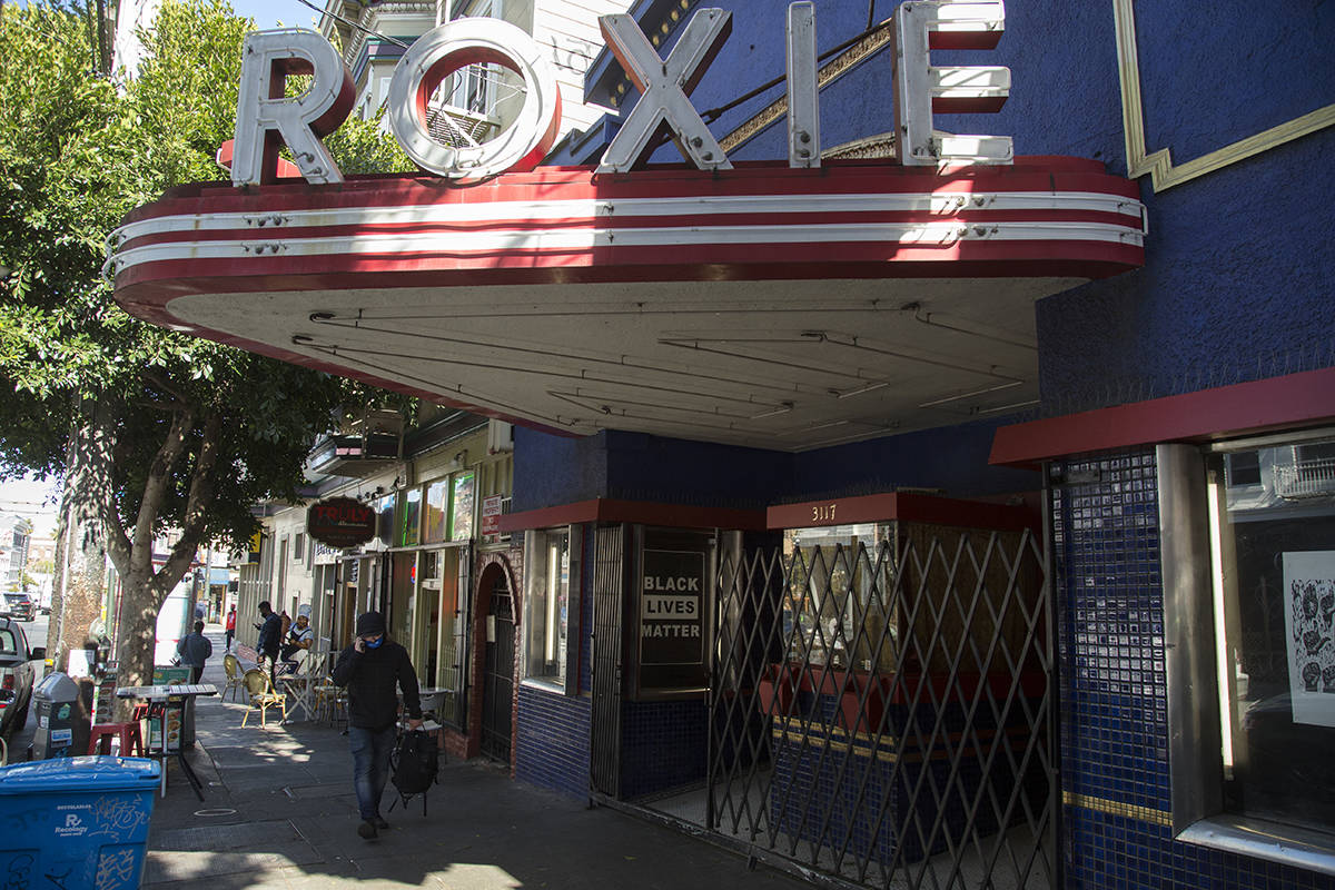 The Roxie Theater in the Mission, a haven for movie lovers, is slated to reopen on May 21 with a special program being selected by a poll of enthusiastic viewers. <ins>(Kevin N. Hume/S.F. Examiner)</ins>